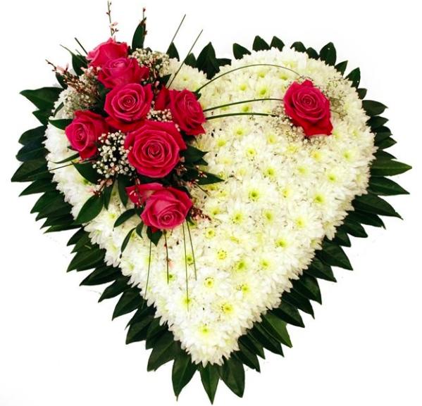 Цветы в форме сердца купить в СПб