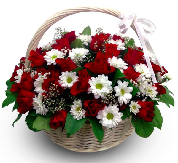 Корзина с цветами, купить в спб