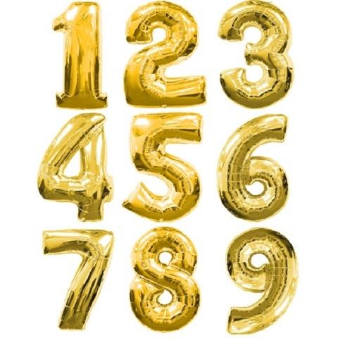 Шар цифра золото 1м.