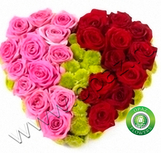№ A-707 Букет роз в виде сердца