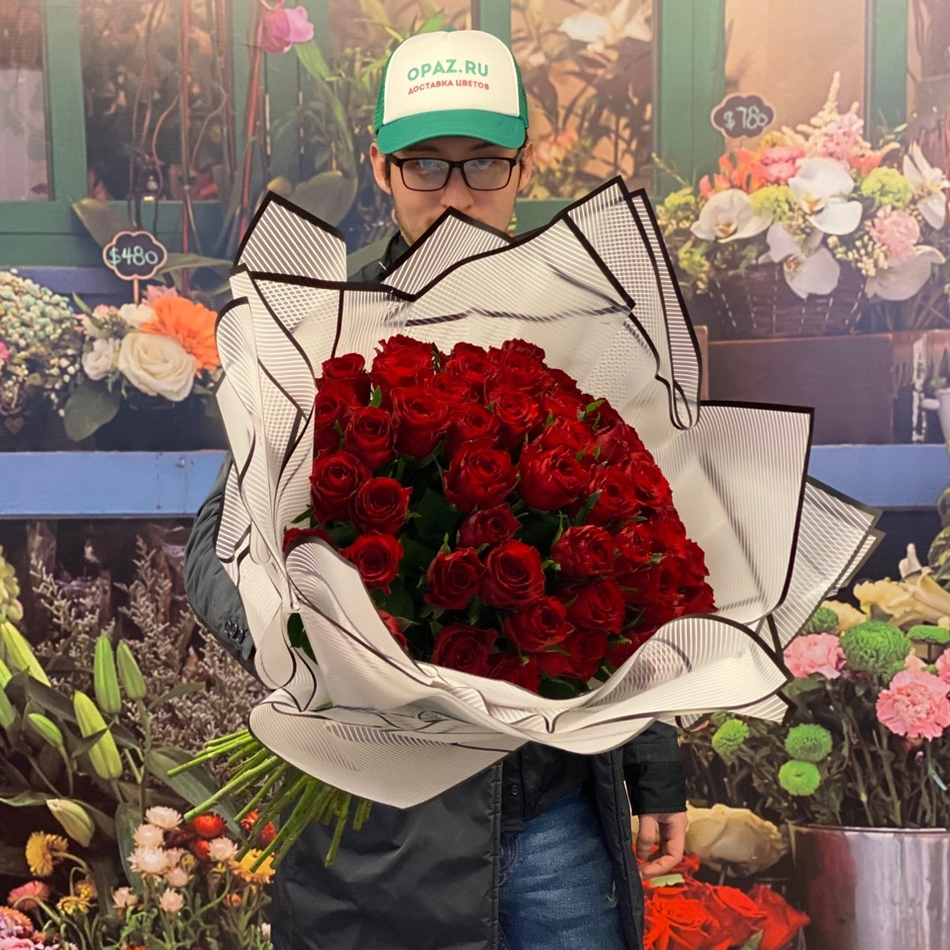 51 роза 50см Голландия Premium №РС-111