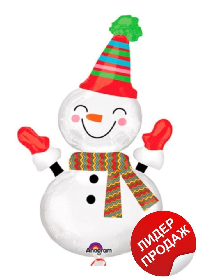 Шар снеговик №2