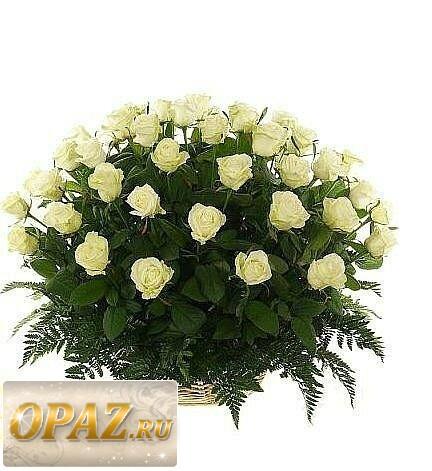 № A-1103 В основу корзины входит 51 роза.