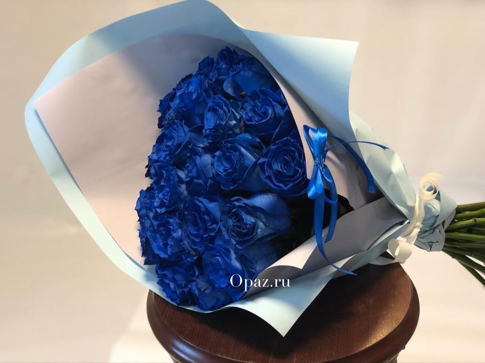Натуральная крашеная роза премиум Эквадор 25 шт.
