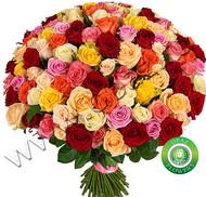 № Р-828 Букет состоит из: - роза 101 шт., длина 70 см.