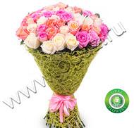 № Р-826 Букет состоит из: - роза 75 шт., длина 50 см. в упаковке