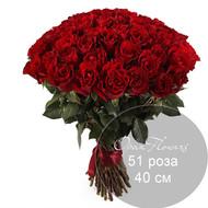 51  красная роза 40 см