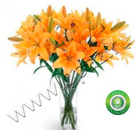 № Л-129 Оранжевые лилии. Цена за штуку