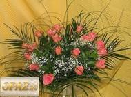 № A-1101 В основу корзины входит 21 роза.