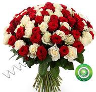 № Р-831 Букет состоит из: - роза 101 шт., длина 70 см.
