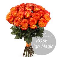 № RS-1402 на фото 25 оранжево-желтых роз