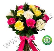 № Р-805 Букет состоит из: - роза 15 шт., длина 60 см, рускус