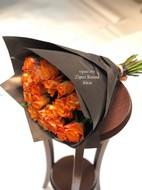 25 оранжевых роз 40 см
