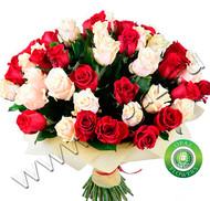 № Р-816 Букет состоит из: - роза 51 шт., длина 60 см.