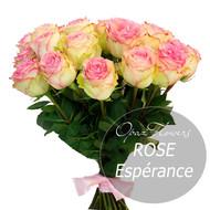 № RS-1404 на фото 15 кремо-розовых роз