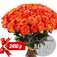 51 роза 60 см №5