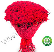 № Р-827 Букет состоит из: - роза 95 шт., длина 70 см. в упаковке