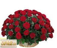 № A-1107 В основу корзины входит 101 роза.