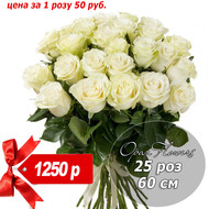 букет 25 роз 60 см №6