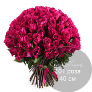 101 розовая   роза 40 см под ленту