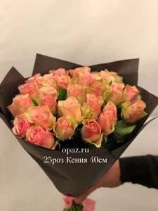 """Роза""""кения"""" розово-кремовая"""