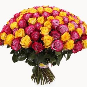 101 роза микс -1 80 см Акция