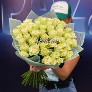 51 роза Голландия Premium в оформлении №РС-123 Роза 50см