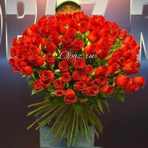 101 роза Голландия Premium 70см №РС-119