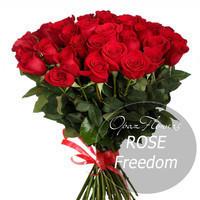 """Букет из 25 роз """"Фридом"""" 80 см"""