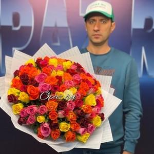 101 роза Premium 40см в оформлении. №РС-087
