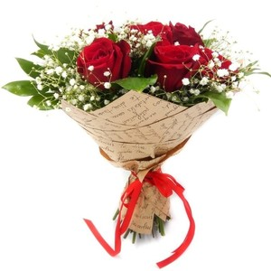 В основе букета 7 роз Эквадор Premium