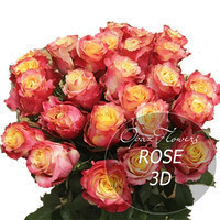 "Букет 101 роза ""3Д"" 50 см"