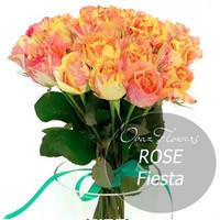 """Букет из 25 роз """"Фиеста"""" 60 см"""