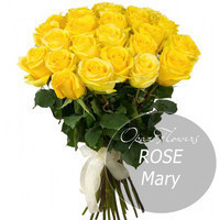 """Букет из 25 роз """"Мери"""" 80 см"""