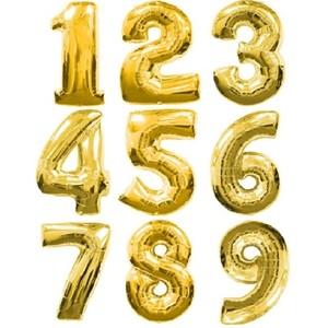 Шар цифра золото метровая