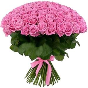 101 розовая роза 80 см Акция