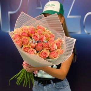25 роз Голландия Premium в оформлении №РС-089 Роза 50см.