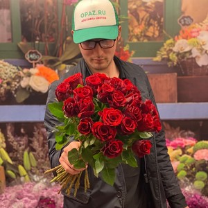 25 роза 40см Голландия Premium №РС-114