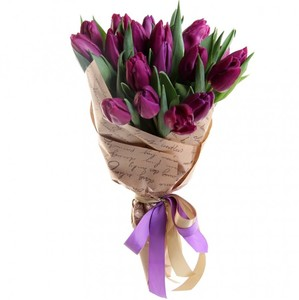 Букет тюльпанов 21 шт. в упаковке