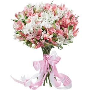 Букет из 19 альстромерий белая и розовая № А-11