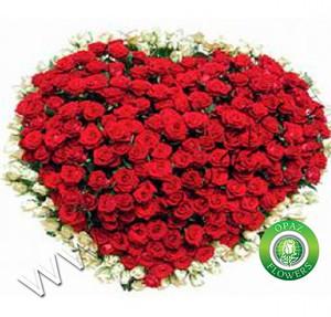 № A-710 Букет в форме сердца из 145 роз