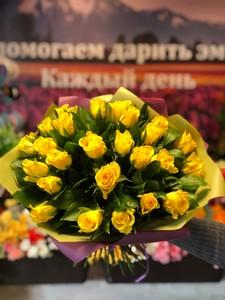 25 желтых роз Кения 40 см