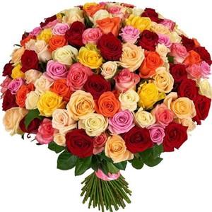 101 роза микс-2 80 см Акция