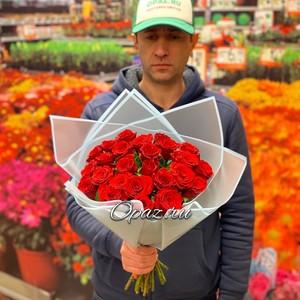 25 роз Premium 40см оформлении №РС-098