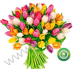 № Т-1815 Букет состоит из 55 тюльпанов Цена: 2750 руб.