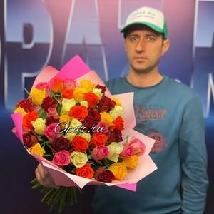51 роза Premium 40см в оформлении №РС-057