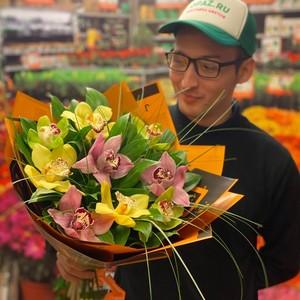 Букет 9 орхидей №-АА04