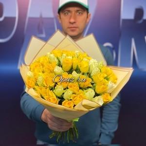 51 роза Premium 40см в оформлении №РС-059
