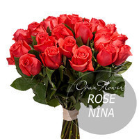 """Букет из 25 роз """"Нина"""" 80 см"""