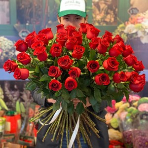 51 роза 70см Голландия Premium №РС-118